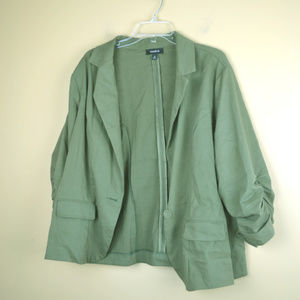 Torrid Size 2 Green Blazer Jacket. Condition is Pr